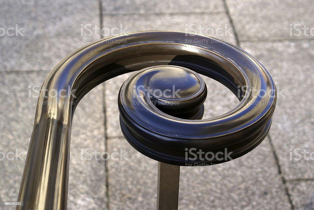 Detail handrail royalty-free stock photo