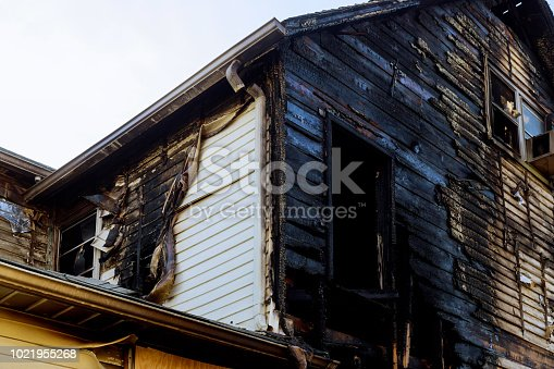 1015604978 istock photo Detail images arson from home that was abandoned after a large housefire. 1021955268