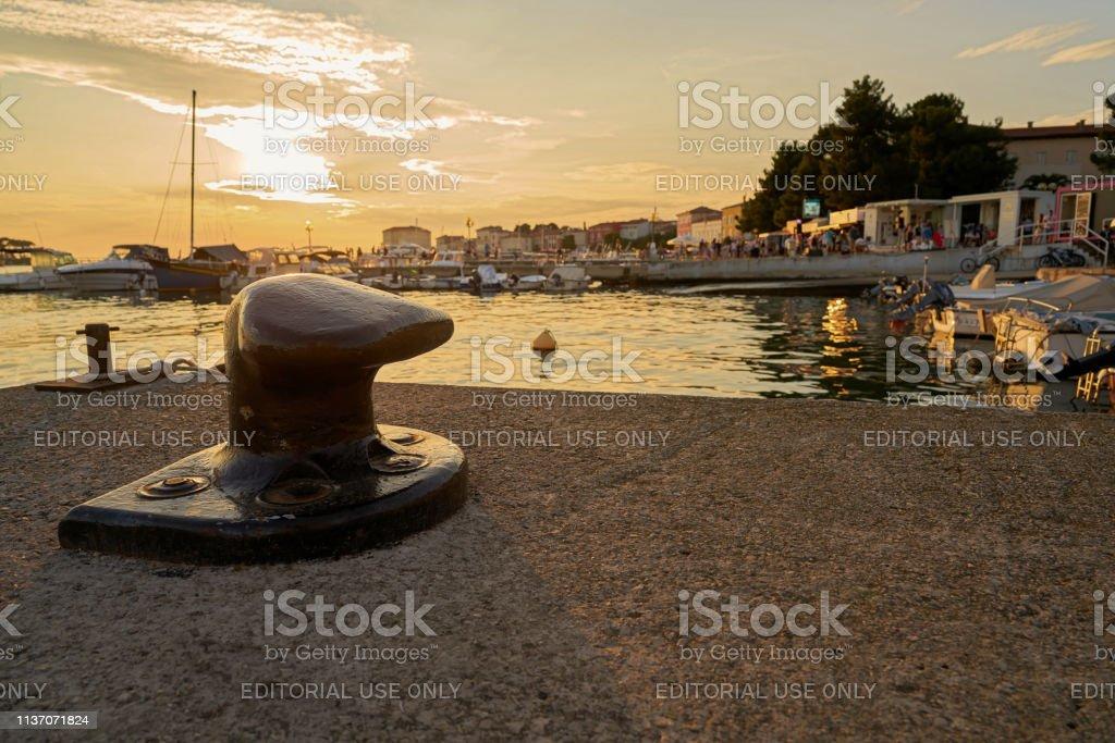 Detail im Hafen von Porec in Kroatien – Foto