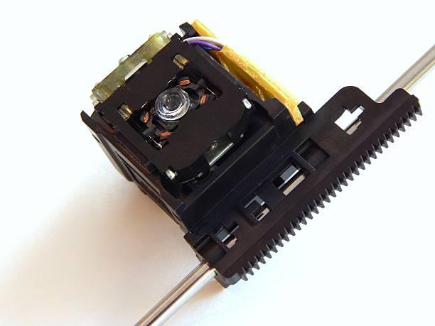 detail-laser-gerät empfänger. - lautsprecher test stock-fotos und bilder