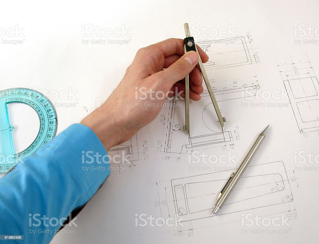 Detail measurement royalty-free stock photo