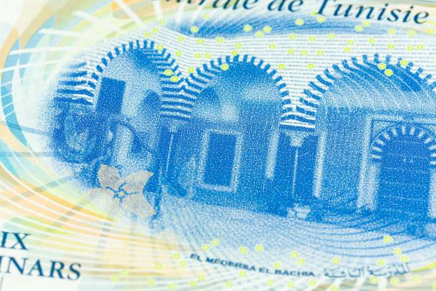 Detail einer 10 tunesischen Dinar Banknote neue Ausgabe umgekehrt – Foto