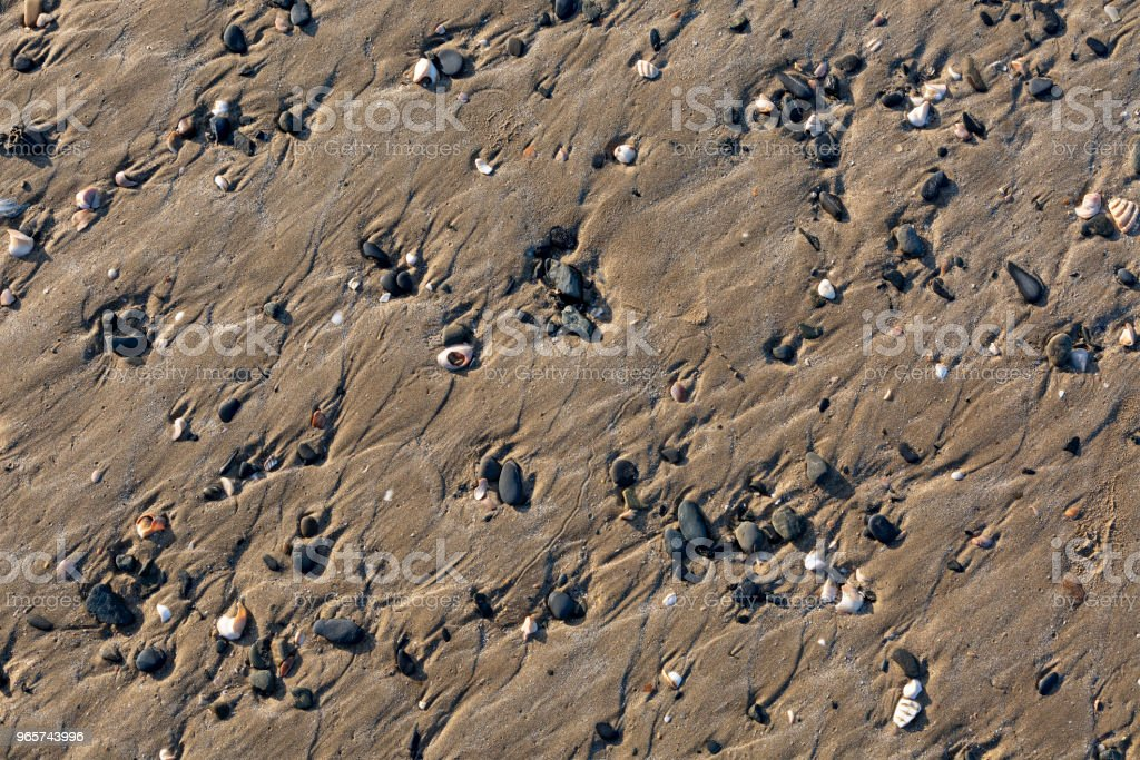 Detail van een strand - Royalty-free Achtergrond - Thema Stockfoto