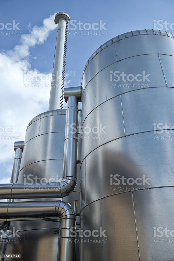 Detail of a biomass plant, Energiewende, Germany stock photo