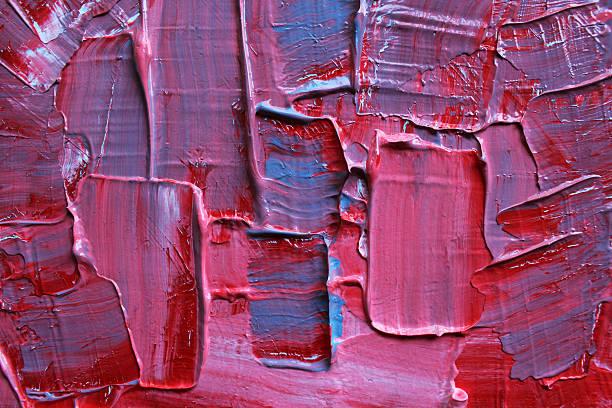 detail of a blue and pink acrylics painting. - tuval üzerine akrilik stok fotoğraflar ve resimler
