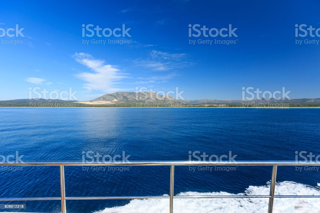 Detail of a boat  in the sea stock photo
