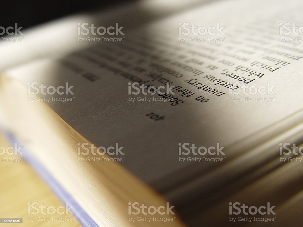Detail of a book royalty-free stock photo