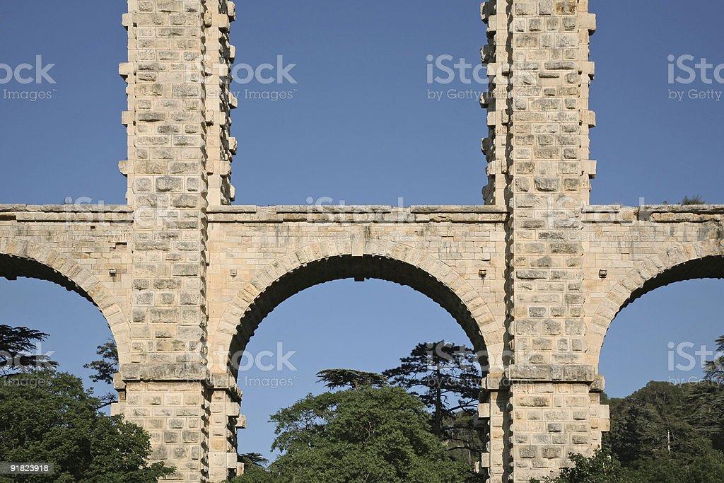 Detail of a Bridge royalty-free stock photo