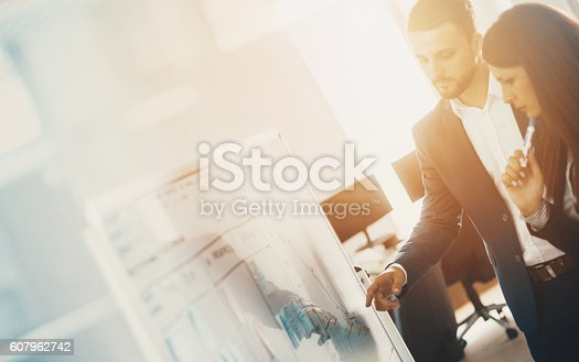 istock Detail of a business meeting. 607962742
