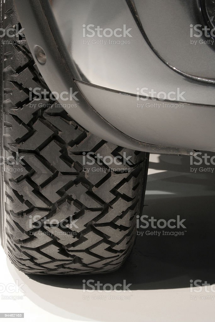 Detail of a car tire royalty-free stock photo