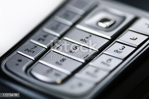 Isolated detail of a cell phone