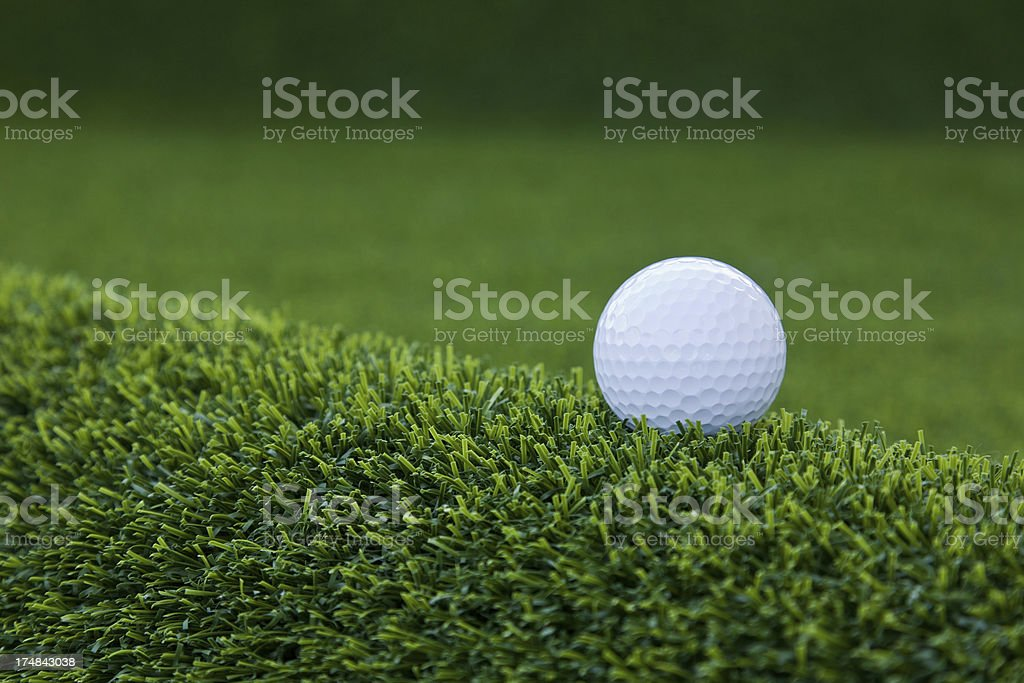 Detail of a challenging golf course royalty-free stock photo