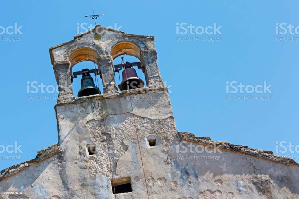 detail of a chapel in  Istria stock photo