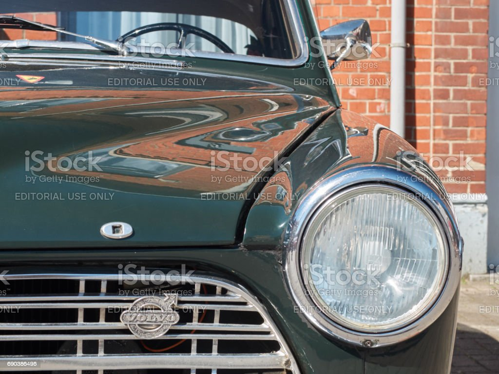 Detail of a classic car. stock photo