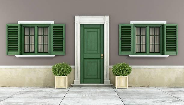 detalhe de um clássico house - fachada - fotografias e filmes do acervo