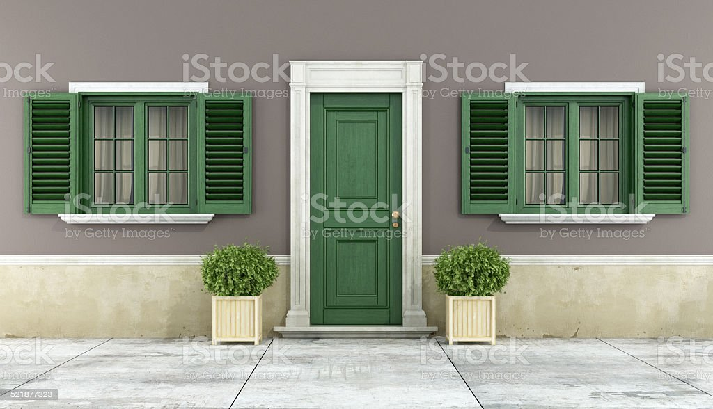 Detail of a classic house stock photo