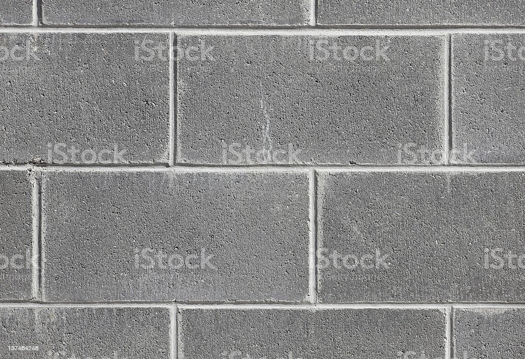 Detail of a concrete block wall royalty-free stock photo
