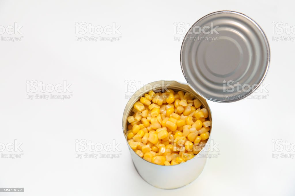 Detail of a corn can royalty-free stock photo