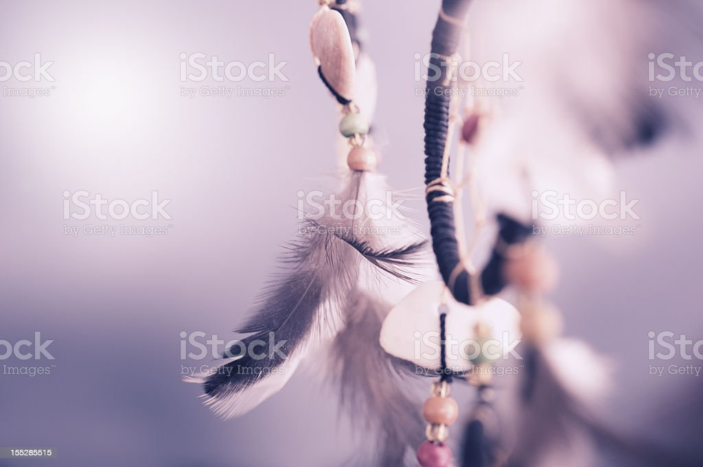Detail of a dreamcatcher stock photo