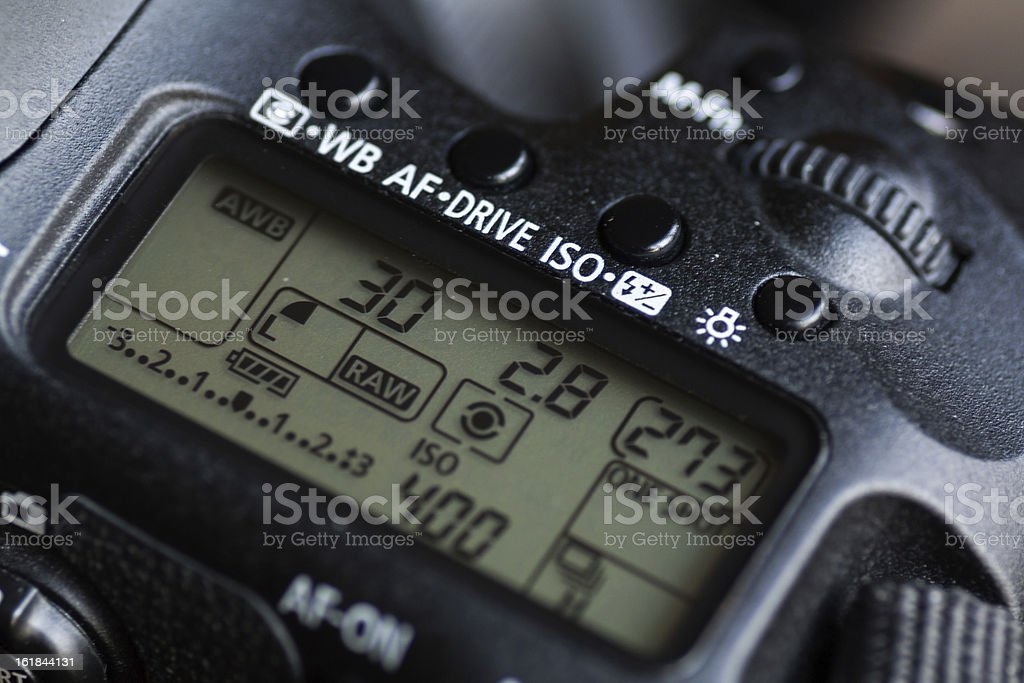 Detail of a DSLR royalty-free stock photo
