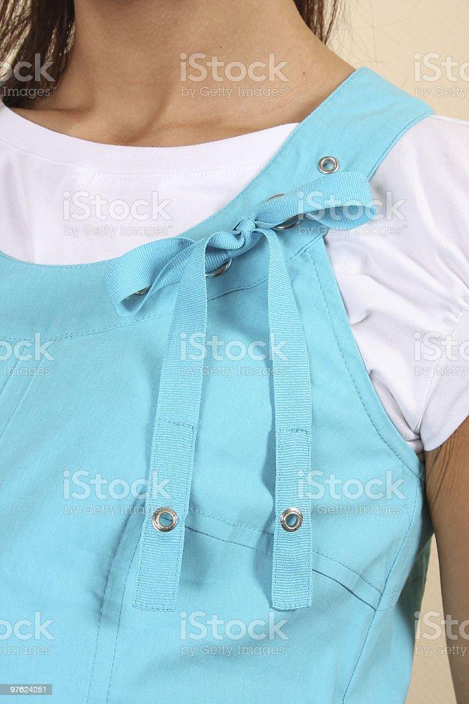 Détail d'une robe de femme photo libre de droits