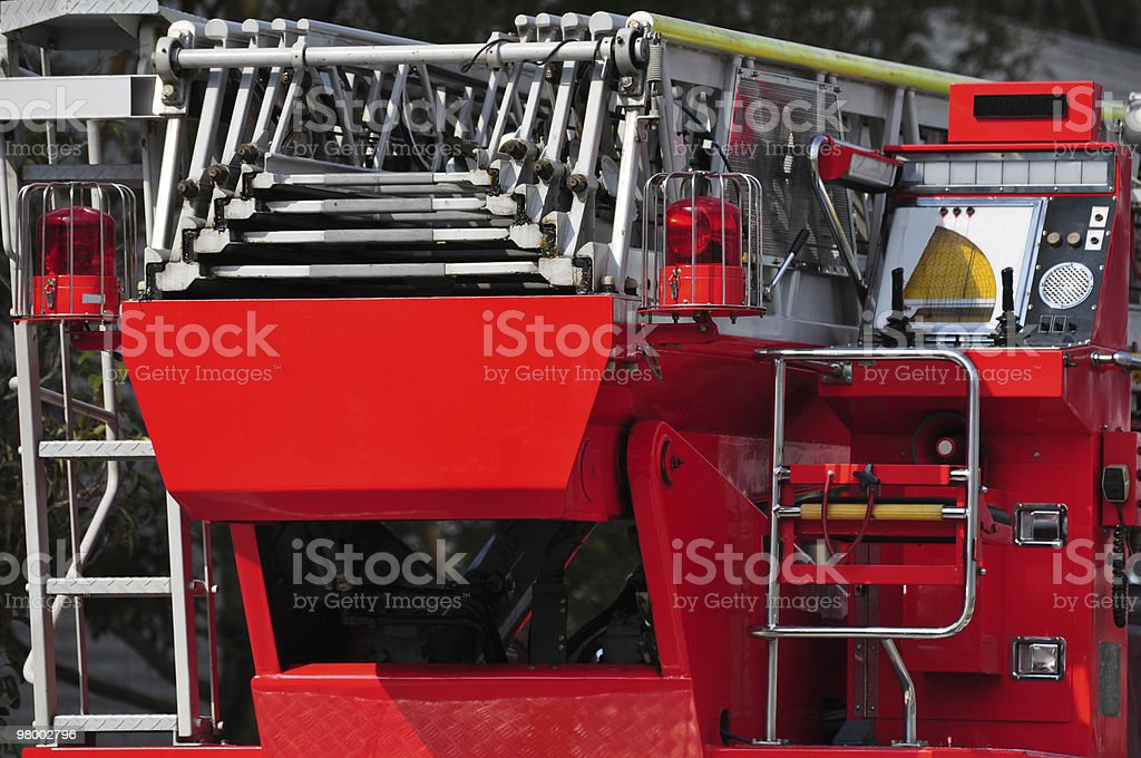 Detail of a fire engine royalty free stockfoto