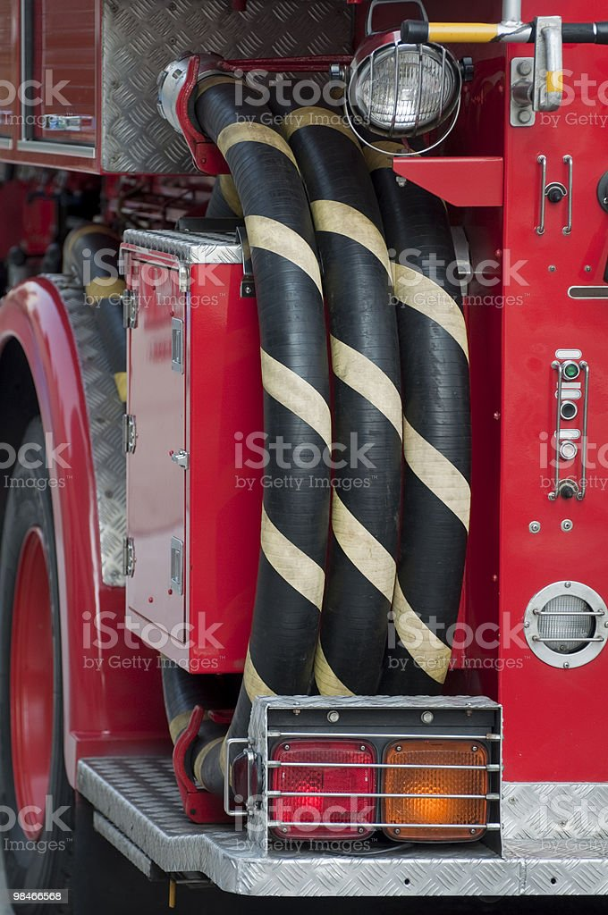 detail of a fire engine royalty-free stock photo