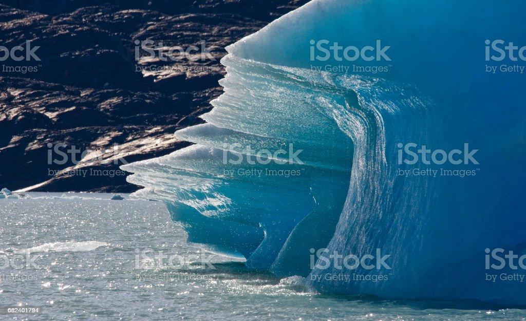 Detail of a glacier of the Perito Moreno Glacier. royalty-free stock photo