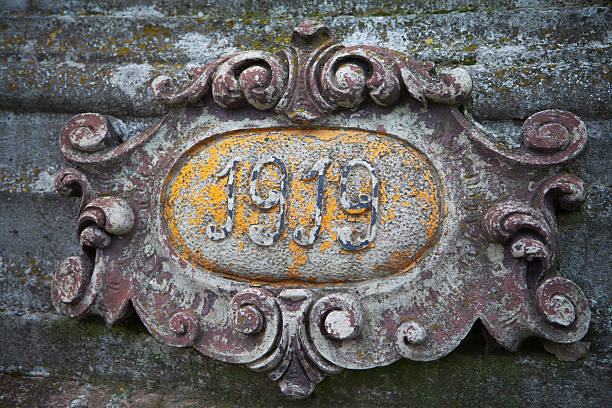 Detail of a grave on an old polish cemetery Detail of a grave on an old polish cemetery. Generic object with copyright issues. 1910 1919 stock pictures, royalty-free photos & images