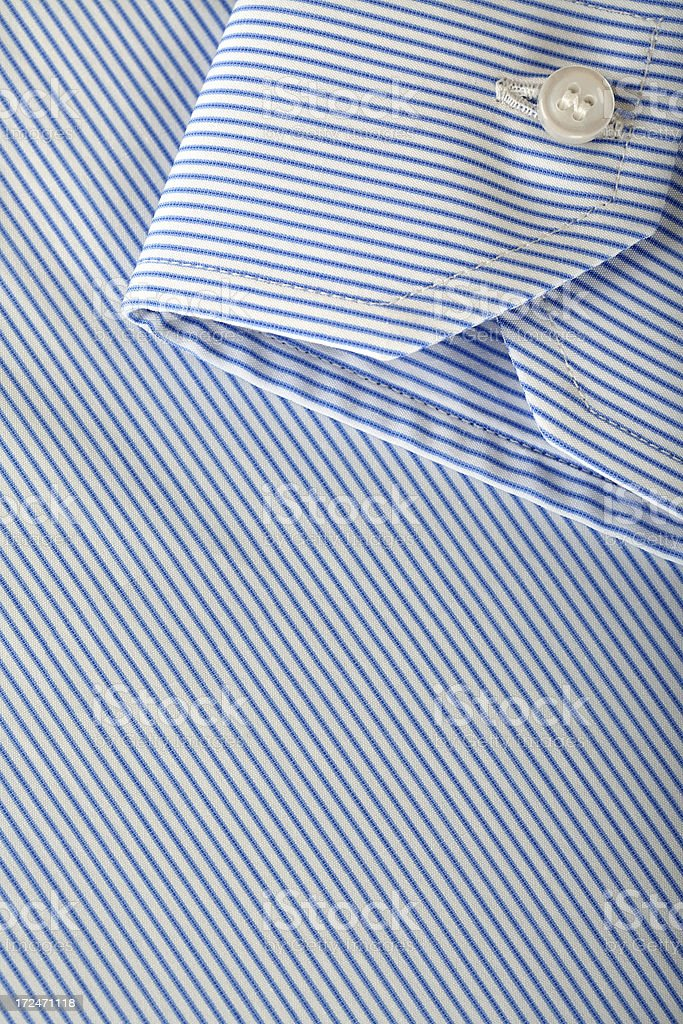 Detail of a hand made shirt royalty-free stock photo
