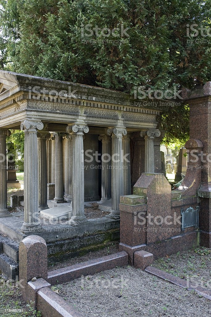 detail of a jewish graveyard royalty-free stock photo