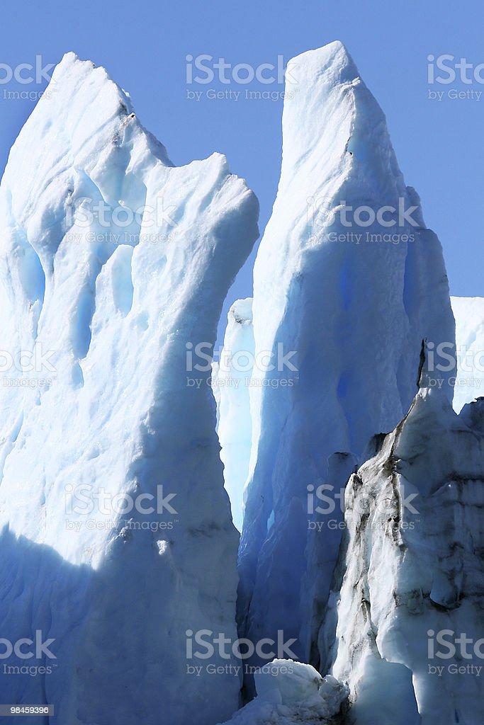 데테일 큰 빙하 in Sermilik 피요르드, 그린란드에 royalty-free 스톡 사진