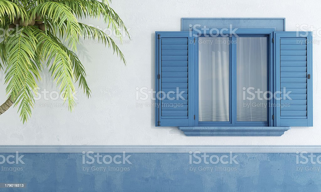 Detail of a Mediterranean house royalty-free stock photo