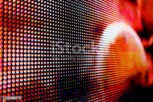 Abstract close-up view of a modern electronic billboard.