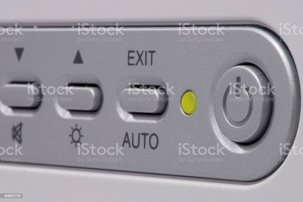 Detail of a monitor Buttons royalty-free stock photo