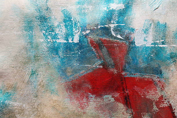Detail of a multicolored acrylics painting.