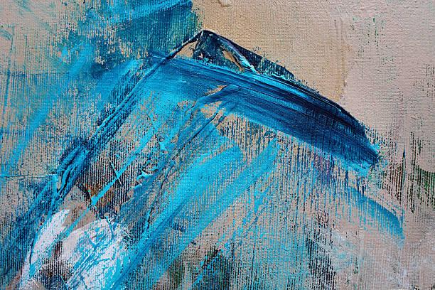 Détail d'une peinture à l'acrylique multicolore. - Photo