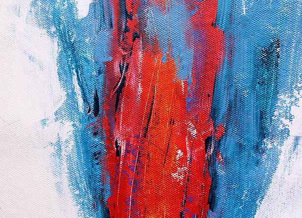 Detalle de un multicolored acrílicos pintura - foto de stock