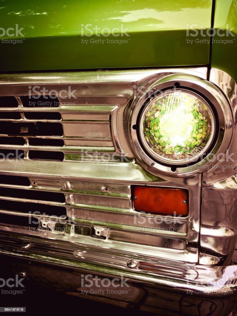 Detail of a old car zbiór zdjęć royalty-free