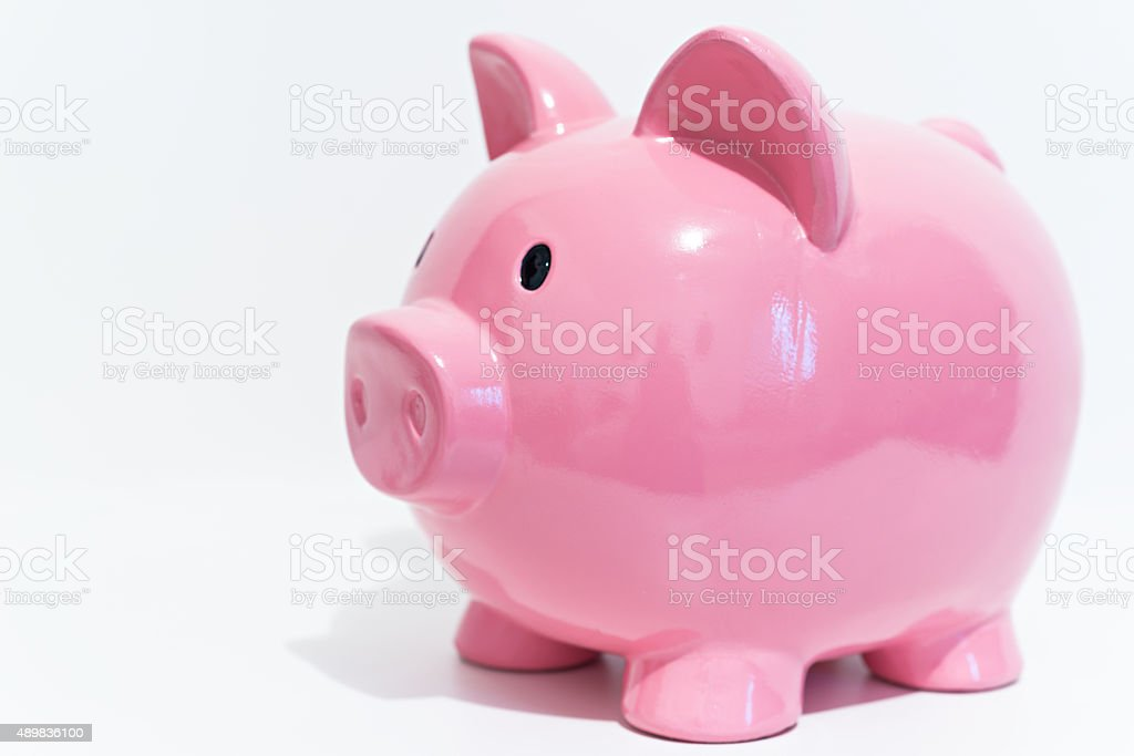 Detail of a piggy bank stock photo