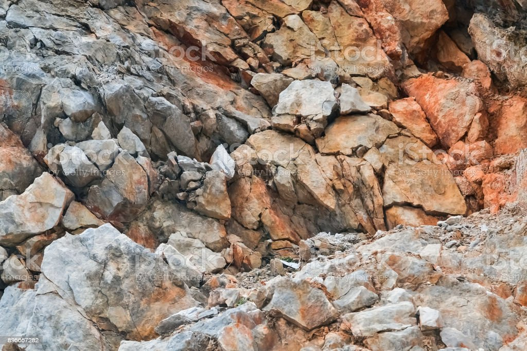 Detail of a quarry stock photo