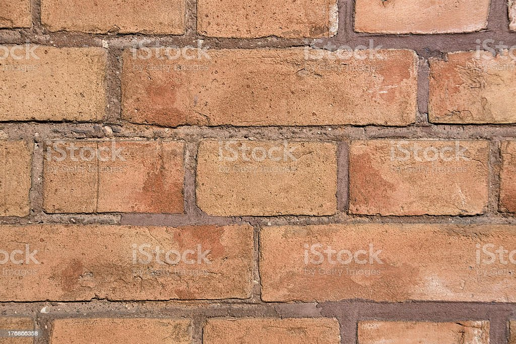 Detail of a red brickwall stock photo