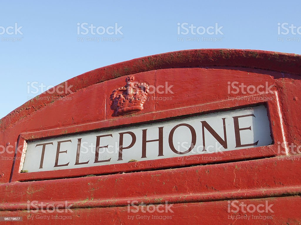 Detail of a Red Telephone Box royalty-free stock photo