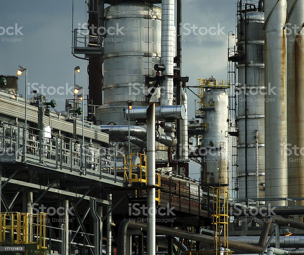 Detail of a refinery 5 royalty-free stock photo