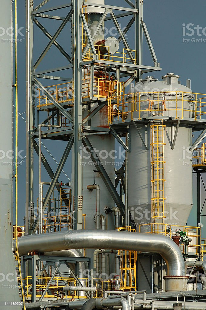 Detail of a refinery royalty-free stock photo