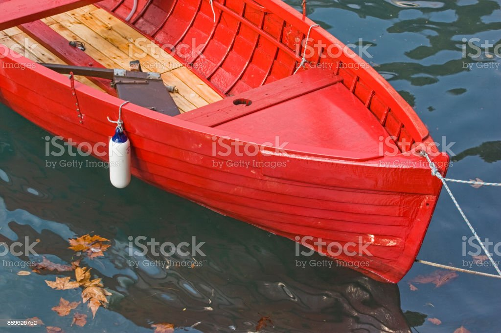Detail of a rowing boat stock photo