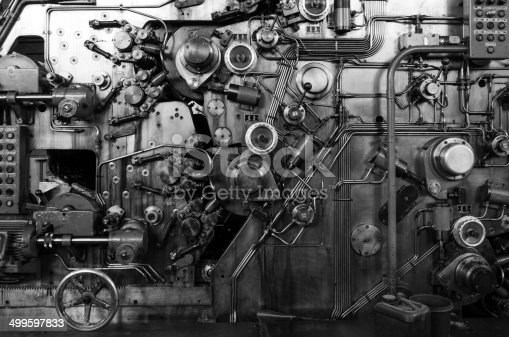 istock Detail of a rusted machine 499597833