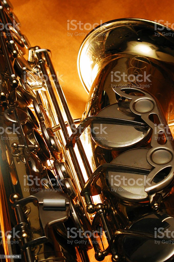 detail of a sax2 royalty-free stock photo