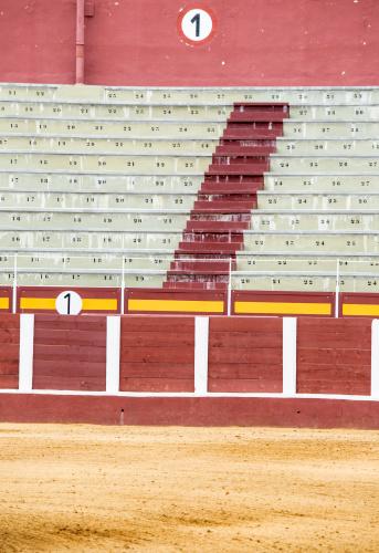 detail of a spanish bullfighting arena in Costa del Sol