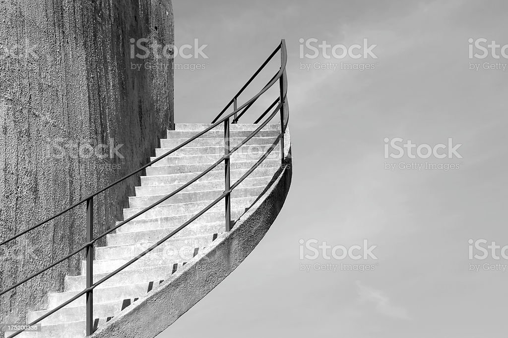 Detail of a staircase royalty-free stock photo